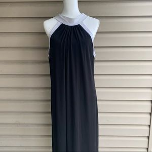 •Jonathan Martin• Black/White Halter Neck Dress-16